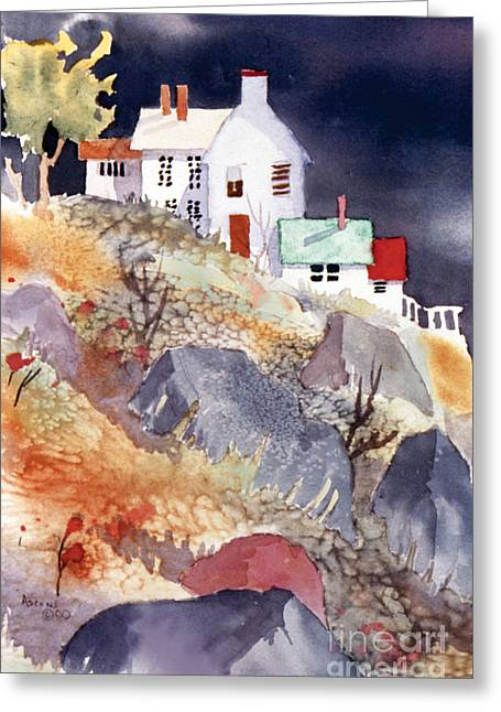 Recently Sold -  - Sienna Greeting Cards - Hill House Greeting Card by Teresa Ascone