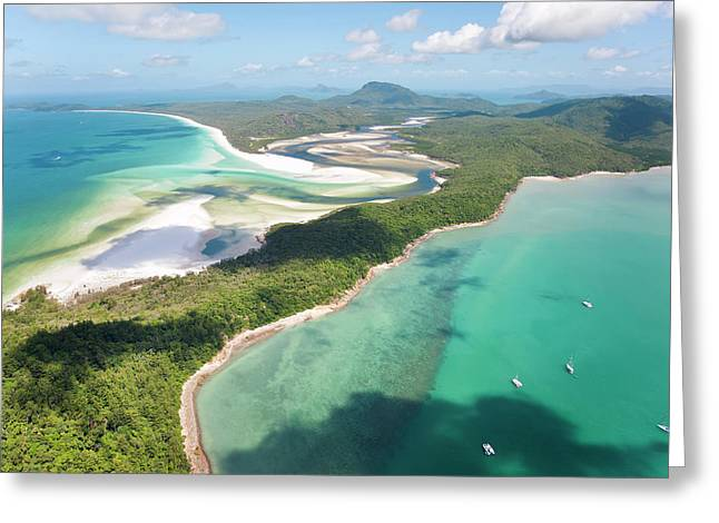 Hill Inlet Whitsunday Islands Greeting Card by Peter Adams