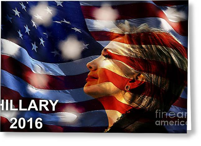 Hillary Clinton Greeting Cards - Hillary 2016 Greeting Card by Marvin Blaine