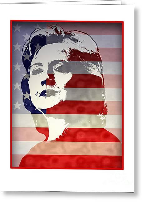 Hillary Clinton Greeting Cards - Hillary Greeting Card by Chris Van Es