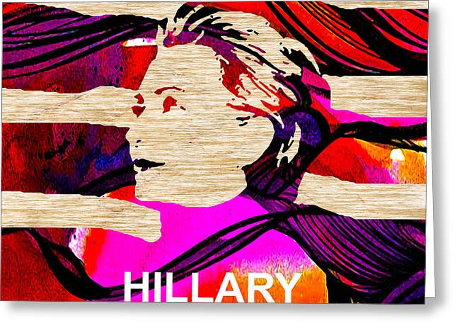 Hillary Clinton 2016 Greeting Card by Marvin Blaine