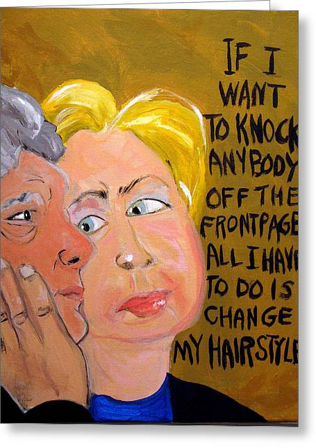 Hillary Greeting Card by Jennie Cooley