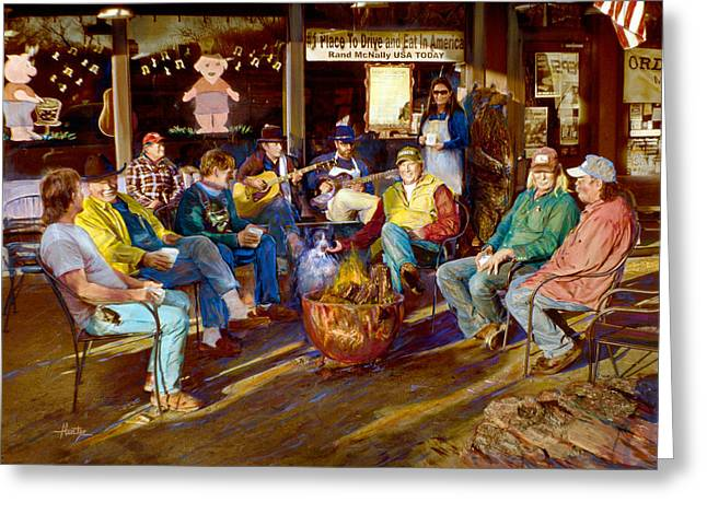 Leipers Fork Greeting Cards - Hillbilly Happy Hour Greeting Card by Anne Goetze
