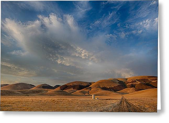 The North Greeting Cards - Hills and Sky Greeting Card by Beth Sargent