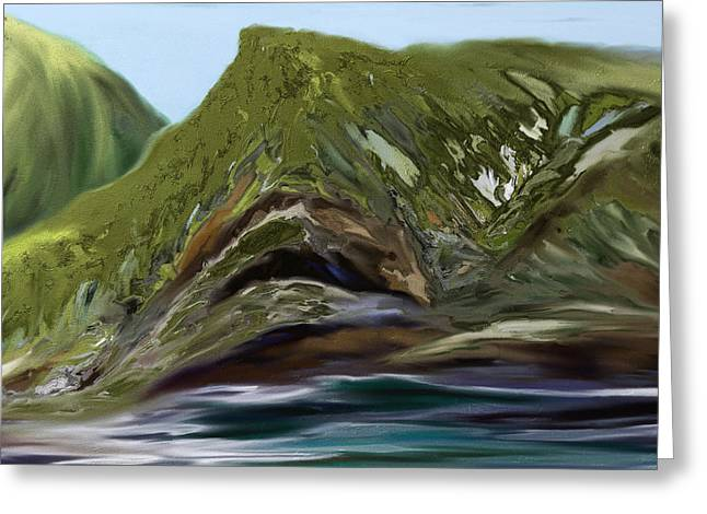Shesh Tantry Greeting Cards - Hills and Valleys Greeting Card by Shesh Tantry