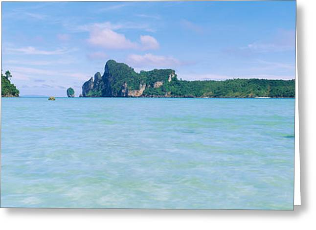 Ocean Images Greeting Cards - Hills In The Ocean, Loh Dalum Bay, Ko Greeting Card by Panoramic Images