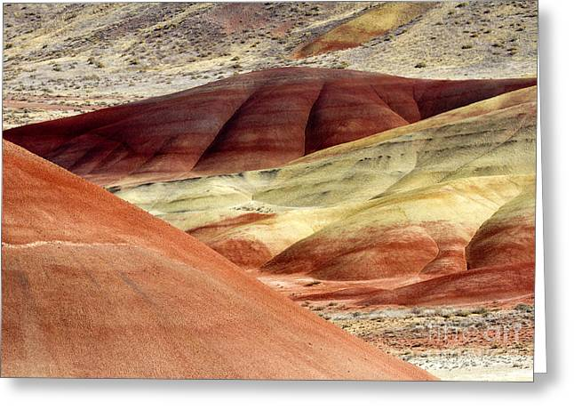 Paint Photographs Greeting Cards - Hills of Red Greeting Card by Mike Dawson