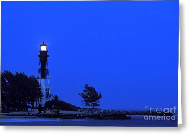 Broward Greeting Cards - Hillsboro Inlet Light at Dusk - FS000790 Greeting Card by Daniel Dempster