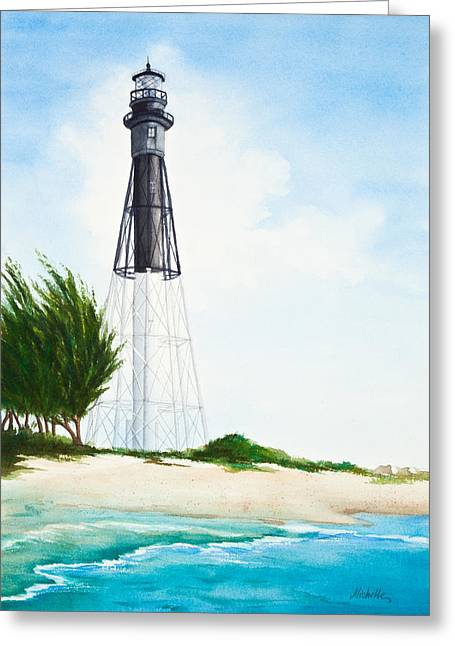Michelle Greeting Cards - Hillsboro Point Inlet Florida Lighthouse Greeting Card by Michelle Wiarda