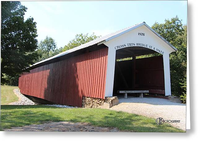 Hillsdale Covered Bridge Greeting Card by Clayton Kelley