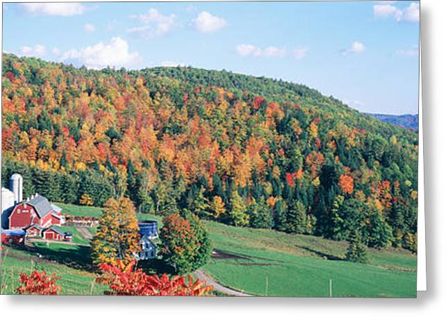 Colorful Photography Greeting Cards - Hillside Acres Farm, Barnet, Vermont Greeting Card by Panoramic Images