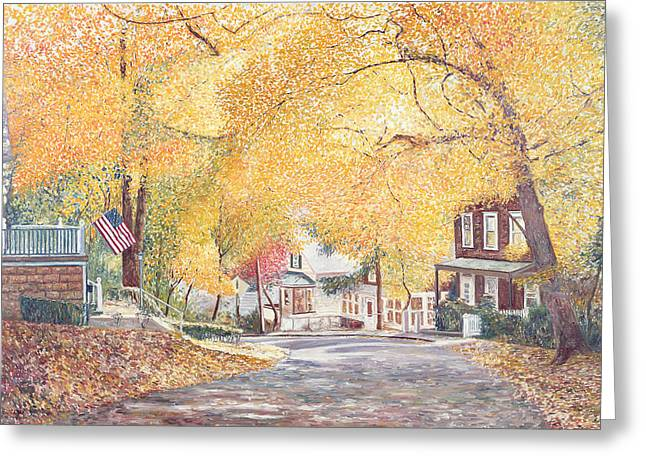 Suburbia Greeting Cards - Hillside Avenue Staten Island Greeting Card by Anthony Butera