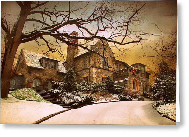 House Greeting Cards - Hillside Home Greeting Card by Jessica Jenney