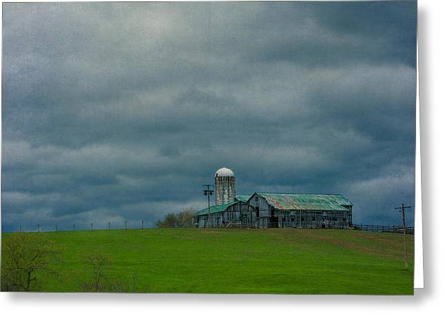 Come A Storm Greeting Card by Jurgen Lorenzen