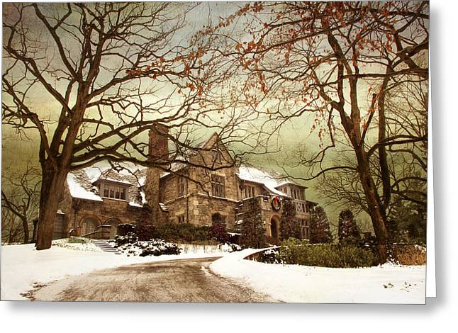 Way Home Greeting Cards - Hilltop Holiday Home Greeting Card by Jessica Jenney
