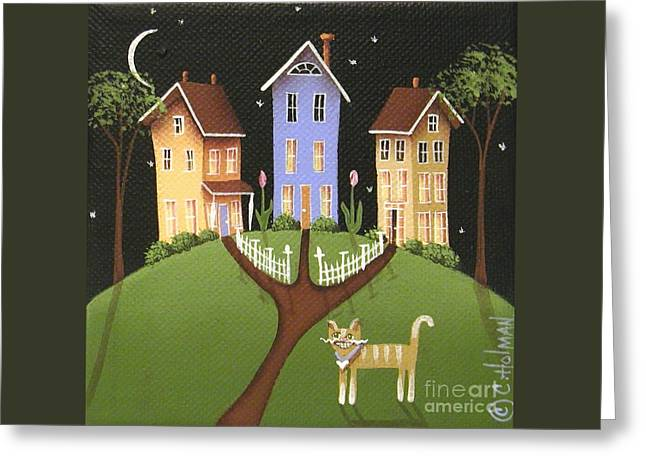 Catherine Greeting Cards - Hilltop Lane Greeting Card by Catherine Holman