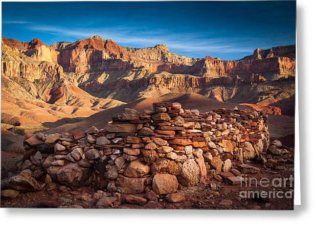 Hilltop Ruin Greeting Card by Inge Johnsson