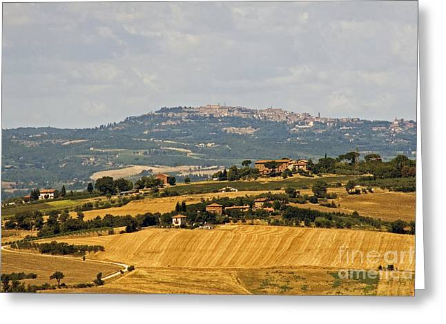 Hilltown Greeting Cards - Hilltop Town, Italy Greeting Card by Tim Holt