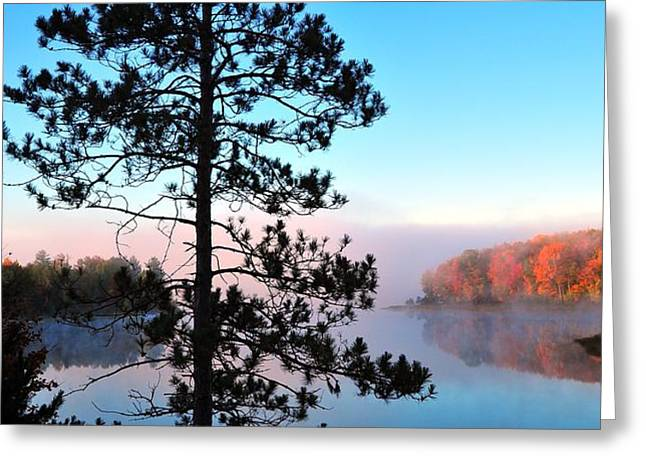Hilltop View of Stoneledge Lake Greeting Card by Terri Gostola