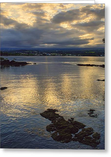 Hilo Greeting Cards - Hilo Hawaii Bay  Greeting Card by Daniel Hagerman