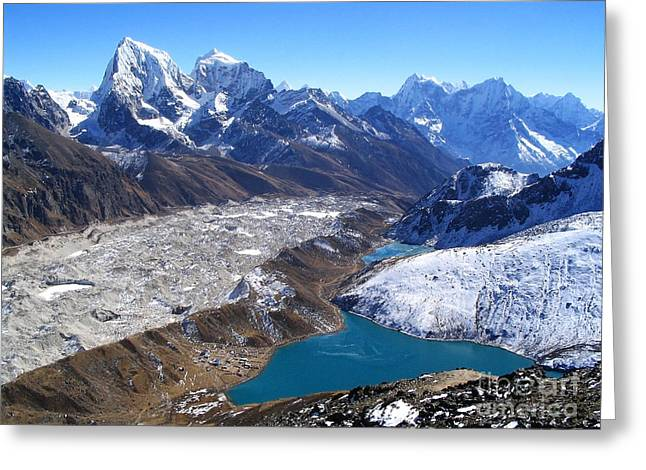 Mt Everest Base Camp Greeting Cards - Himalaya Views Greeting Card by Tim Hester