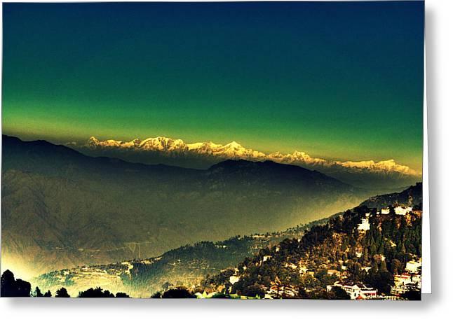 Salman Ravish Greeting Cards - Himalayas Greeting Card by Salman Ravish