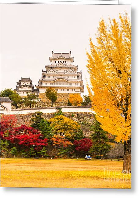 Himeji Castle Garden Greeting Cards - Himeji Castle - Japan Greeting Card by Luciano Mortula