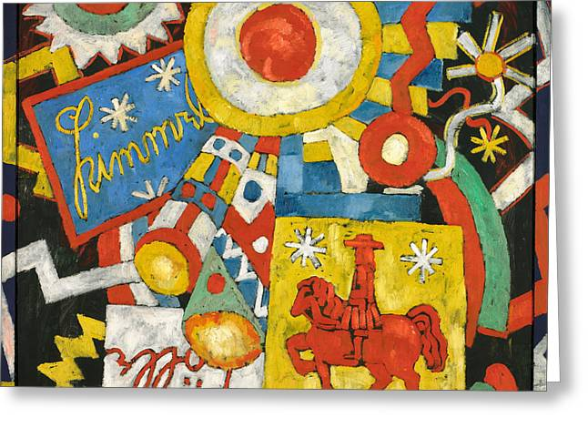 Himmel Greeting Card by Marsden Hartley