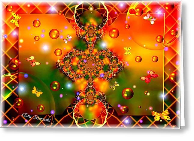 Fenster Digital Art Greeting Cards - Himmelblume Greeting Card by Eva Borowski