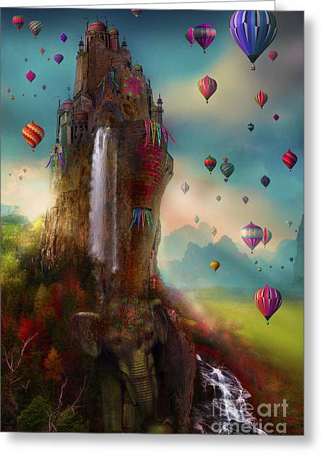Hot Air Greeting Cards - Hinchangtor Greeting Card by Aimee Stewart