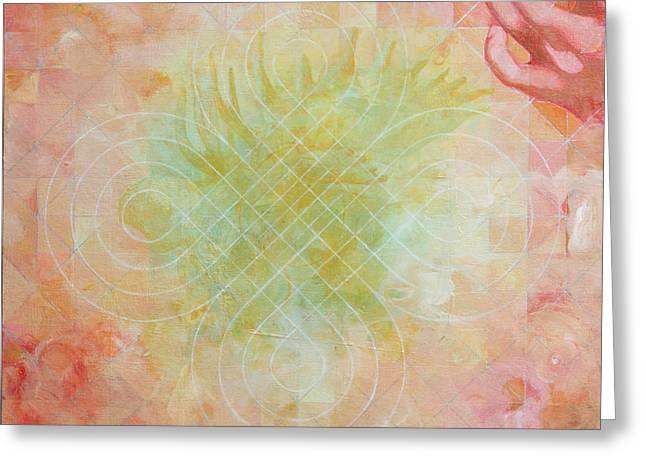 Award Winning Art Greeting Cards - Hindbrain Greeting Card by Sandra Cohen
