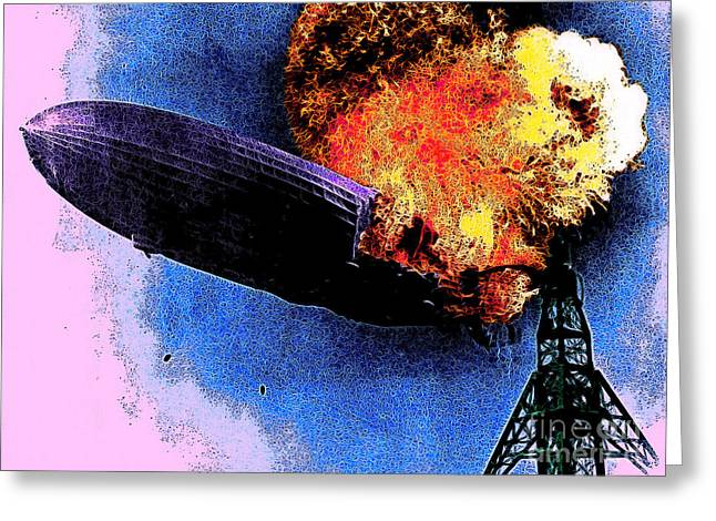 Air Craft Greeting Cards - Hindenburg 20130605 Greeting Card by Wingsdomain Art and Photography