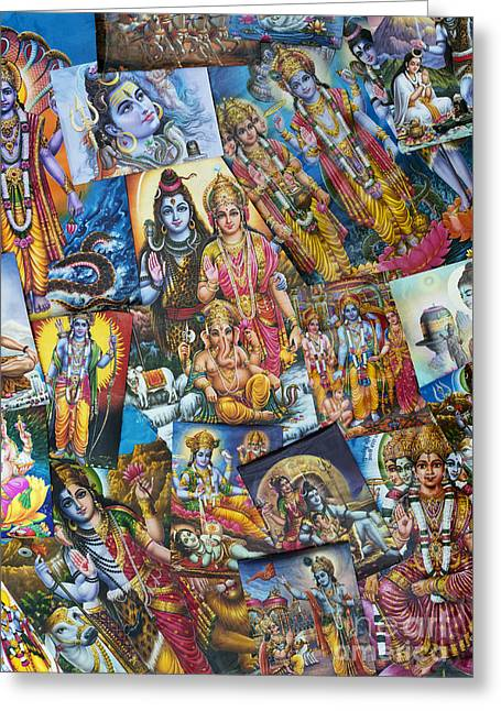 Hindu Deity Posters Greeting Card by Tim Gainey