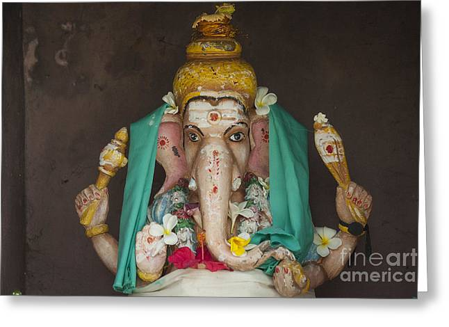 Ganapati Greeting Cards - Hindu god Ganesh Greeting Card by Patricia Hofmeester