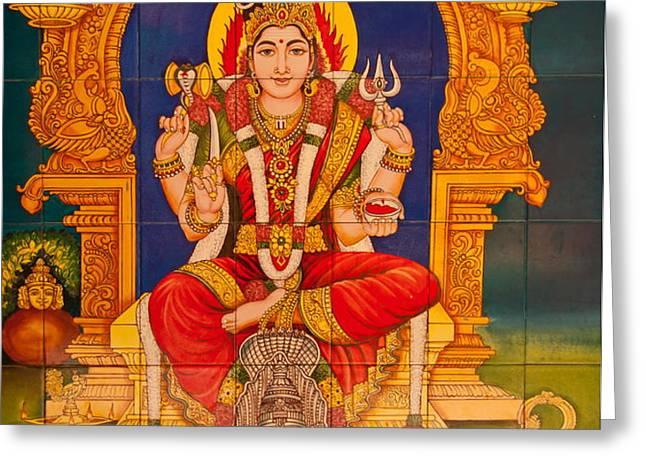 Hindu God Greeting Card by Niphon Chanthana