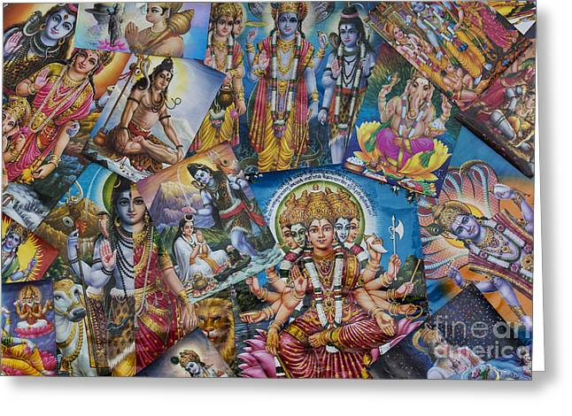 Hindu Posters Greeting Card by Tim Gainey