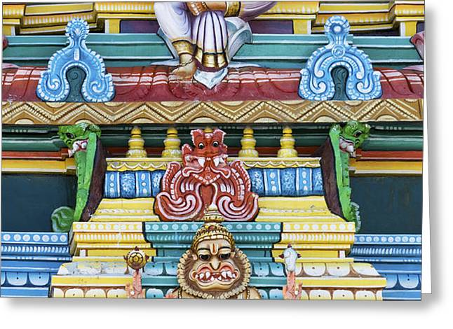 Hindu Temple Deity Statues Greeting Card by Tim Gainey