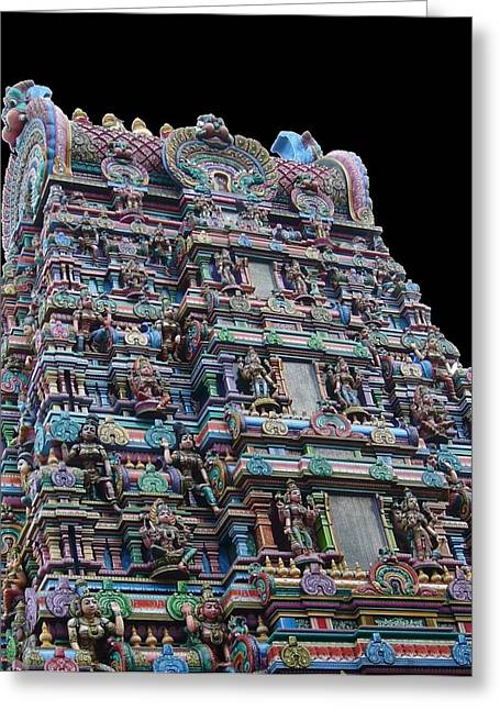 Hindu Goddess Greeting Cards - Hindu Temple Greeting Card by Gregory Smith