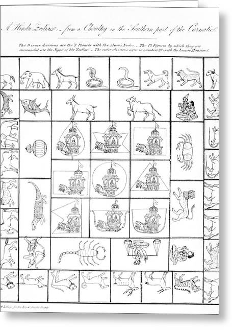 Hindu Zodiac Symbols Greeting Card by Royal Astronomical Society