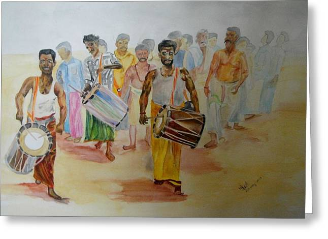 Hindus Festival Greeting Card by Umme Kulsoom