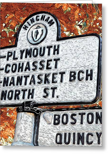 Cohasset Greeting Cards - Hingham Greeting Card by Carol Sutherland