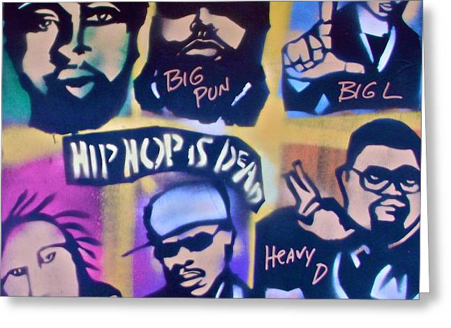 Free Speech Greeting Cards - Hip Hop Is Dead 2 Greeting Card by Tony B Conscious
