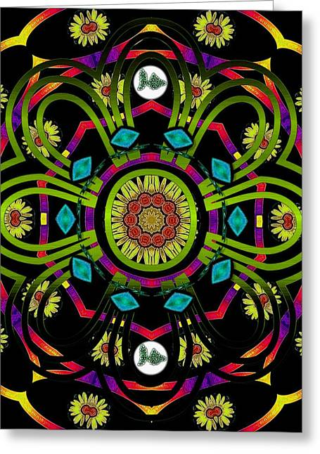 Decorative Fish Greeting Cards - Hippie Mandala Greeting Card by Pepita Selles