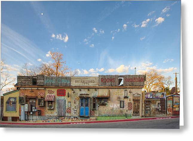 Austin Landmarks Greeting Cards - Hippie Opera - South Austin Texas Greeting Card by Rob Greebon