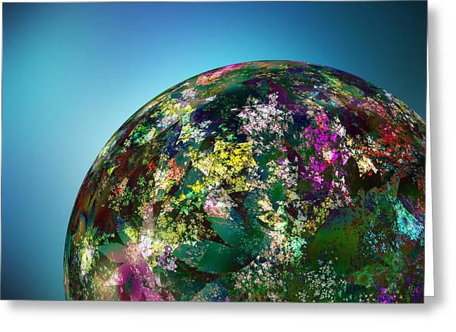 Hippies' Planet 2 Greeting Card by Klara Acel