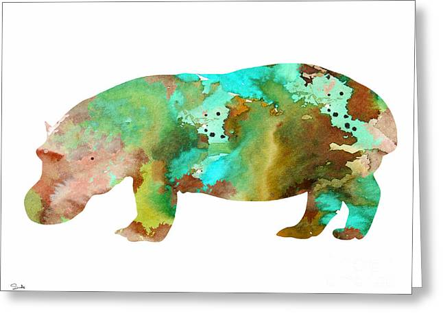 Hippos Greeting Cards - Hippo 2 Greeting Card by Luke and Slavi