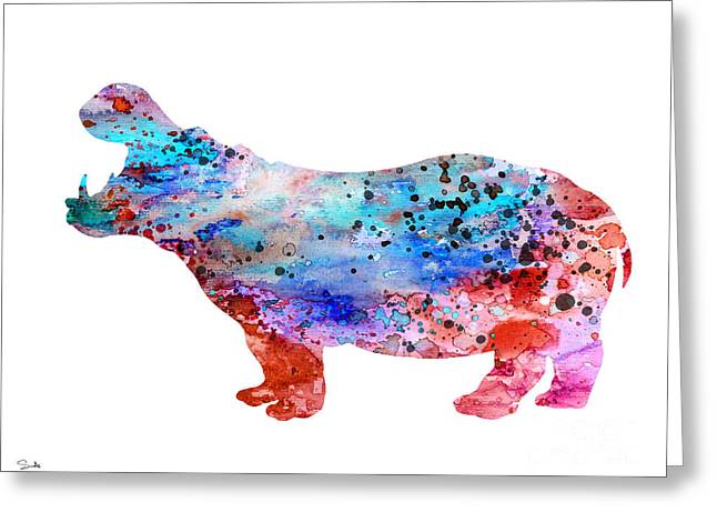 Hippos Greeting Cards - Hippo 3 Greeting Card by Luke and Slavi