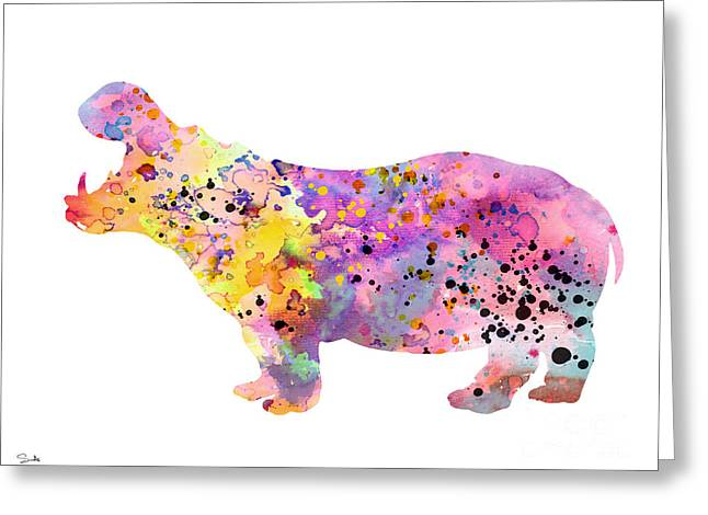 Hippos Greeting Cards - Hippo  Greeting Card by Luke and Slavi
