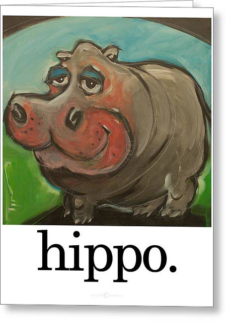 Hippopotamus Digital Greeting Cards - Hippo Greeting Card by Tim Nyberg