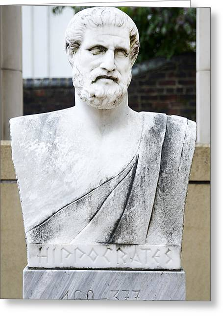 Hippocrates Greeting Cards - Hippocrates Statue - VCU Campus Greeting Card by Brendan Reals
